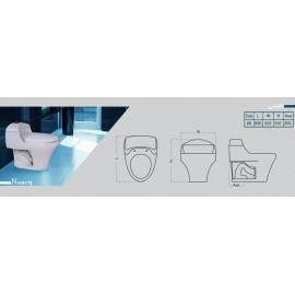 توالت فرنگی گلسار مدل نانسی