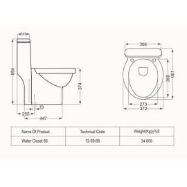 توالت فرنگی تانیا چینی مروارید